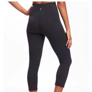 a13e249ce8763 Old Navy Pants | High Rise Stripe Melange Crops Leggings | Poshmark